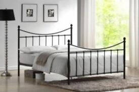 Metal Bed Frame with Mattress: double