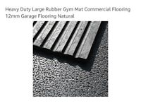 Heavy duty large rubber gym mat commercial garage flooring 12mm