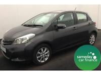 ONLY £142.35 PER MONTH 2013 GREY TOYOTA YARIS 1.3 VVT-I TR 5 DOOR PETROL MANUAL