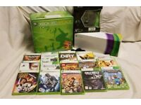 Xbox 360 Bundle Kinect x2 Controllers Headset 17+ Games.