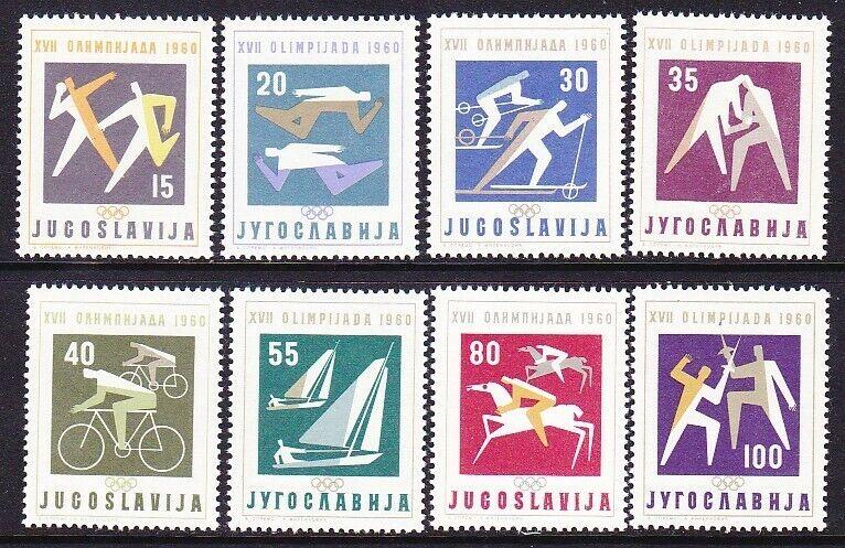 Yugoslavia 564-71 MNH 1960 17th Olympic Games Full Set of 8 Very Fine