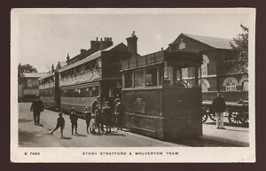 Bucks-STONY-STRATFORD-and-Wolverton-Steam-Tram-RP-PPC-1911