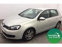 £115.70 PER MONTH SILVER 2009 (59 REG) VW GOLF 1.6 TDI 105 B/M SE DIESEL MANUAL