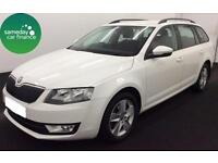 £148.64 PER MONTH WHITE 2013 SKODA OCTAVIA ESTATE 1.6 TDI CR SE DIESEL MANUAL