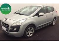 £144.47 PER MONTH SILVER 2010 PEUGEOT 3008 CROSSOVER 1.6 SPORT DIESEL MANUAL