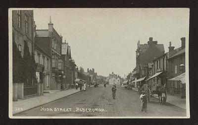 Suffolk ALDEBURGH High St early RP PPC locals & children pre auto