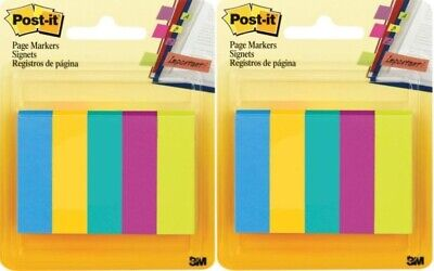 2 Pack Post-it Page Flag Markers Assorted Colors - 500 Flags Ea