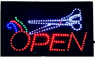 Large Animated Led Neon Led Open Barber Sign Hair Salon Barber Shop 21 X13
