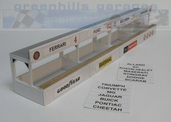 Greenhills Scalextric Slot Car Building Kit American Pit Boxes 1:32 Scale - B...