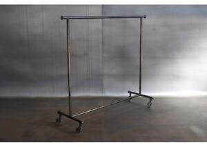 Industrial 2 level clothing rack