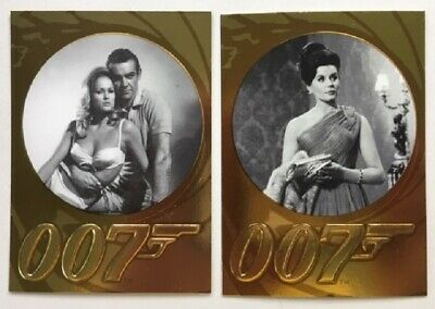 James Bond 50th Anniversary Series 1 & 2 Complete Base Sets, 198 Cards