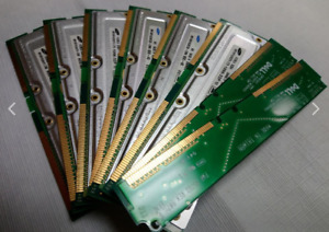 8 Computer Memory Chips (Various capacities & Brands)
