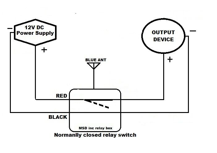 msd inc 12v normally closed on  off relay switch with 2