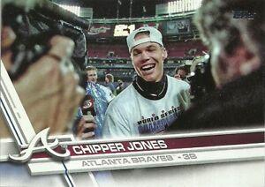 2017 Topps Update Chipper Jones SP Atlanta Braves #US248B