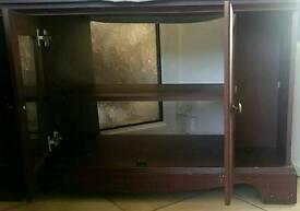Mahogany Wood TV Stand
