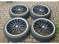 TEAM DYNAMICS 4X100 4X108 20 INCH ALLOY WHEELS MULTIFIT VAUXHALL FORD PEUGEOT FIAT NISSAN HONDA VW