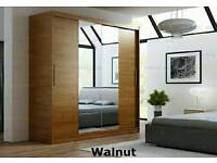 New wardrobe with mirror and two sliding door