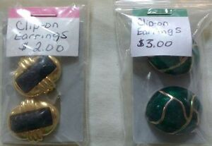 Clip on Earrings Great for Halloween costumes  $1.00 -$3.00