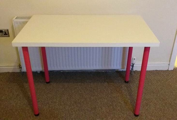 Ikea linnmon table pink legs in stockport manchester gumtree
