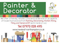 Painter Decorator, Kitchen Fitter and Tiling