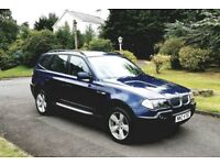 4X4 BMW X3 2.0 D SPORT JEEP GREY LEATHER - X5 Q5 Q7 ML KUGA TIQUAN RANGE ROVER A4 320