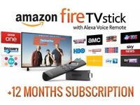 Amazon firestick with 12 months iptv (can work on smart tv zgemma android smart phone)