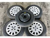 COMPLETE SET OF 4 FORD GHIA ALLOY WHEELS INCLUDING SPARE