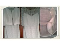 John Charles Mother of the Bride outfit in sea-mist & ivory, size 10