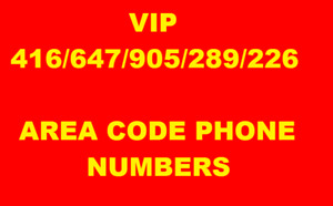 PROMOTE YOUR BUSINESS WITH MEMORABLE 416/647/905  PHONE NUMBERS