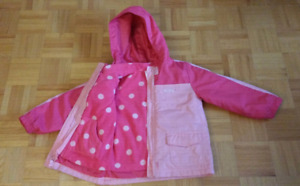 Girls Size 5T 3 in 1 Jacket