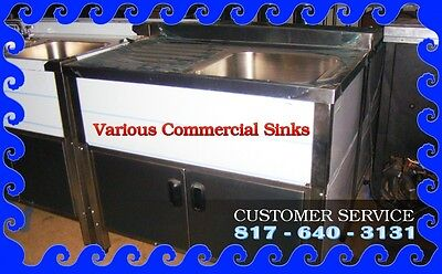 Various Commercial Sinks 123 Compartments Newpre Owned