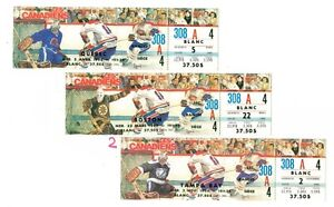 3 HOCKEY TICKETS CANADIANS AT MONTREAL FORUM 1994/95 NOT USED