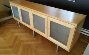 Gorgeous Blonde Wood Dining Room Hutch