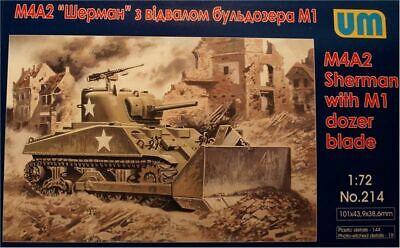 Um Blade (Unimodels UM214 - 1:72 Tank M4A2 with M1 Dozer Blade )