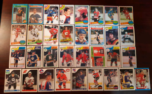 1977-89 OPC ROOKIE Hockey Card LOT of 33 Housley Bellows Savard