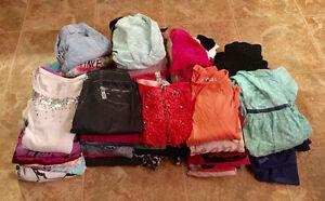 Lot vêtements fille 7-8 ans et 10 ans 39 morceaux