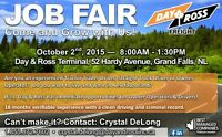Job Fair Grand Falls Oct 2 8-1:30 Drivers and Owner Operators