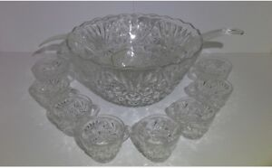 Punch Bowl with Glasses