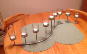 S Shaped 9 Candle Holder for Mantel