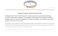 Farmers' Market Manager