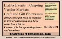 LizBIZ EVENTS - CRAFT AND VENDOR SHOWS ongoing