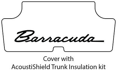 Plymouth Rubber - 1970 1974 Plymouth Barracuda Trunk Rubber Floor Mat Cover with ME-028 Barracuda