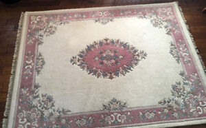 $1000+@ RETAIL !! Rich Oriental Wool Area Rug 7 x 9 SEE VIDEO