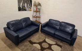 Italian Leather 3 & 2 Seater Sofa Set