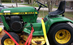 John Deere 216 parting out