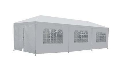 10'x30′ White Outdoor Gazebo Canopy Wedding Party Tent 8 Removable Walls -8 Garden Structures & Shade