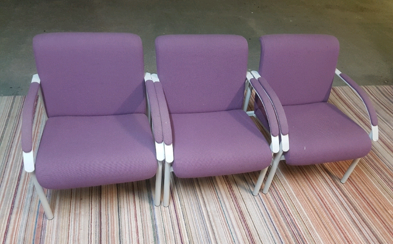 Chairs Quality Extra Comfy Purple Fabric Amp Grey Metal