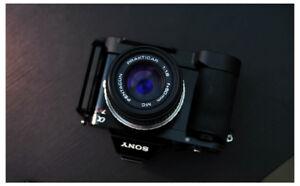 Sony A7r body with metal grip