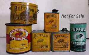 BUFFALO OIL CANS & OLDER WILLIAM PENN CANS WANTED Regina Regina Area image 1