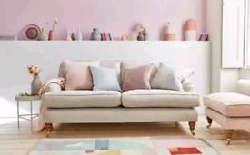 Beautiful Fabric Sofas Grey/Teal/Cream/Royal Blue